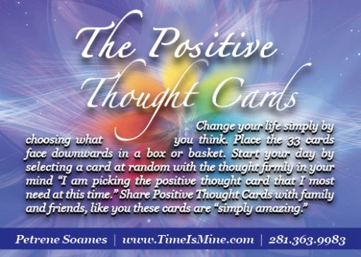 Petrene Soames Positive Thought Cards - Back Cover
